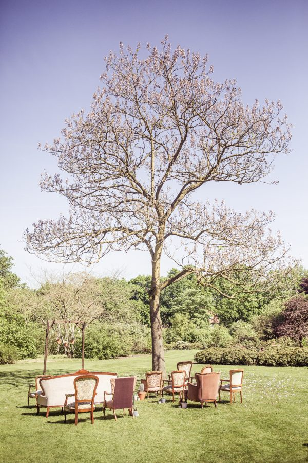 trouwen in botanische tuin