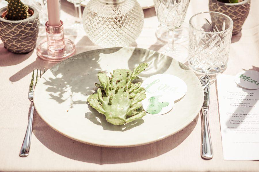 stationery tafelstyling bruiloft cactus