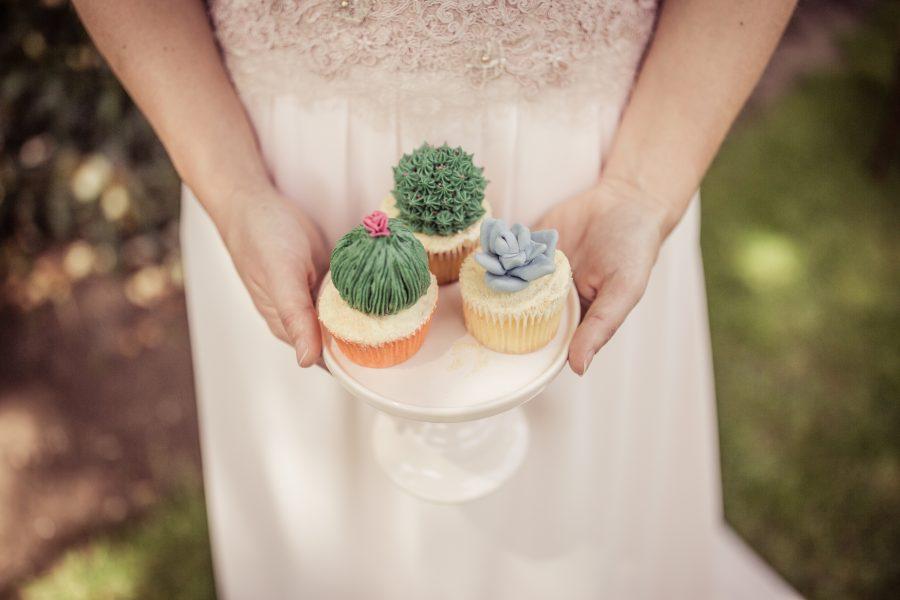 cupcakes cactus bruiloft