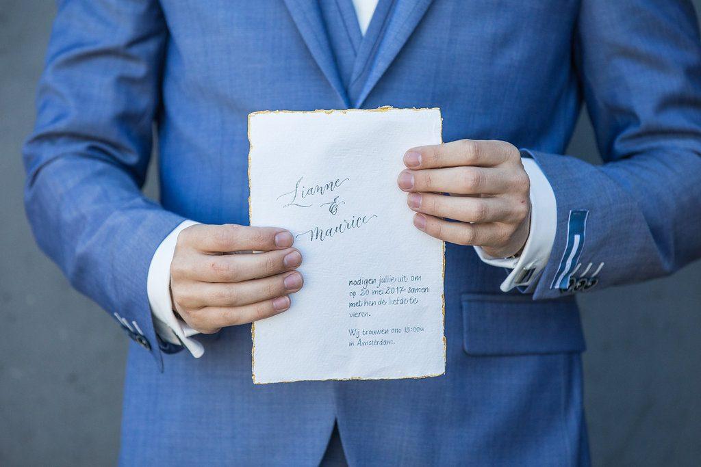trouwkaart kalligrafie
