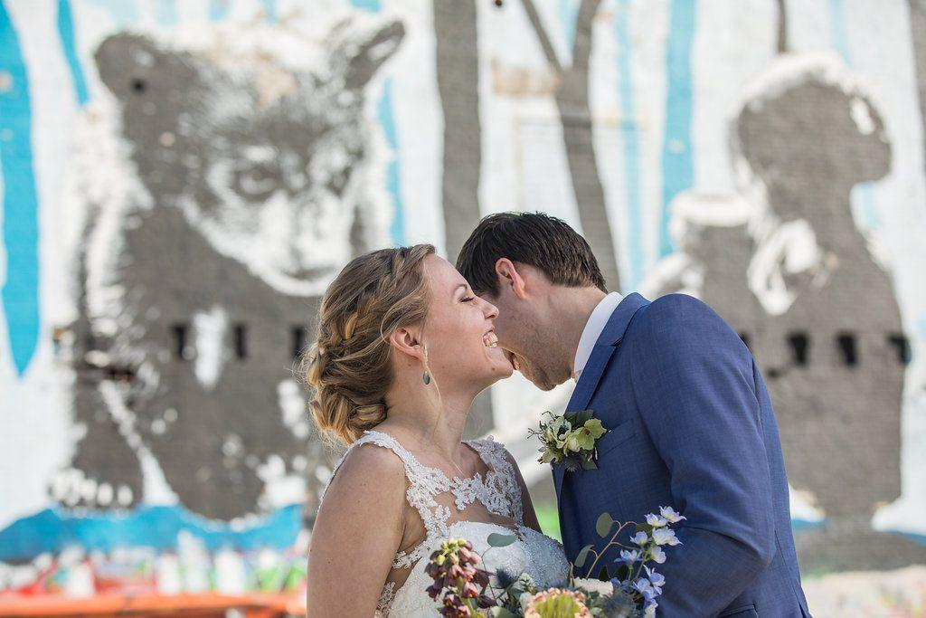 bruiloft graffiti