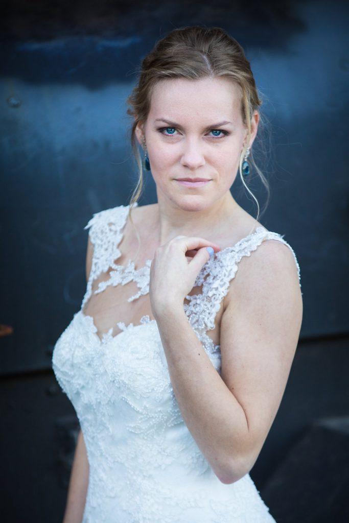 bruidsjurk kant