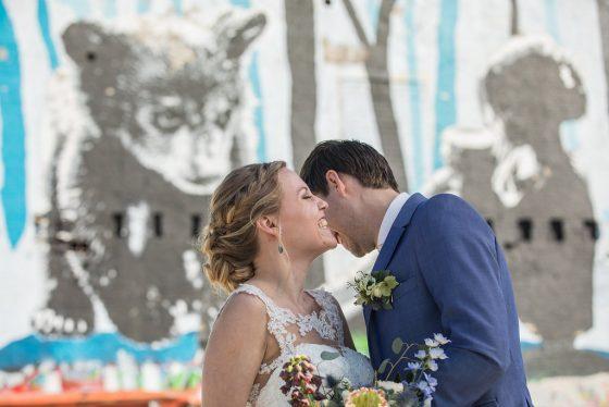 graffitimuur bruidsreportage
