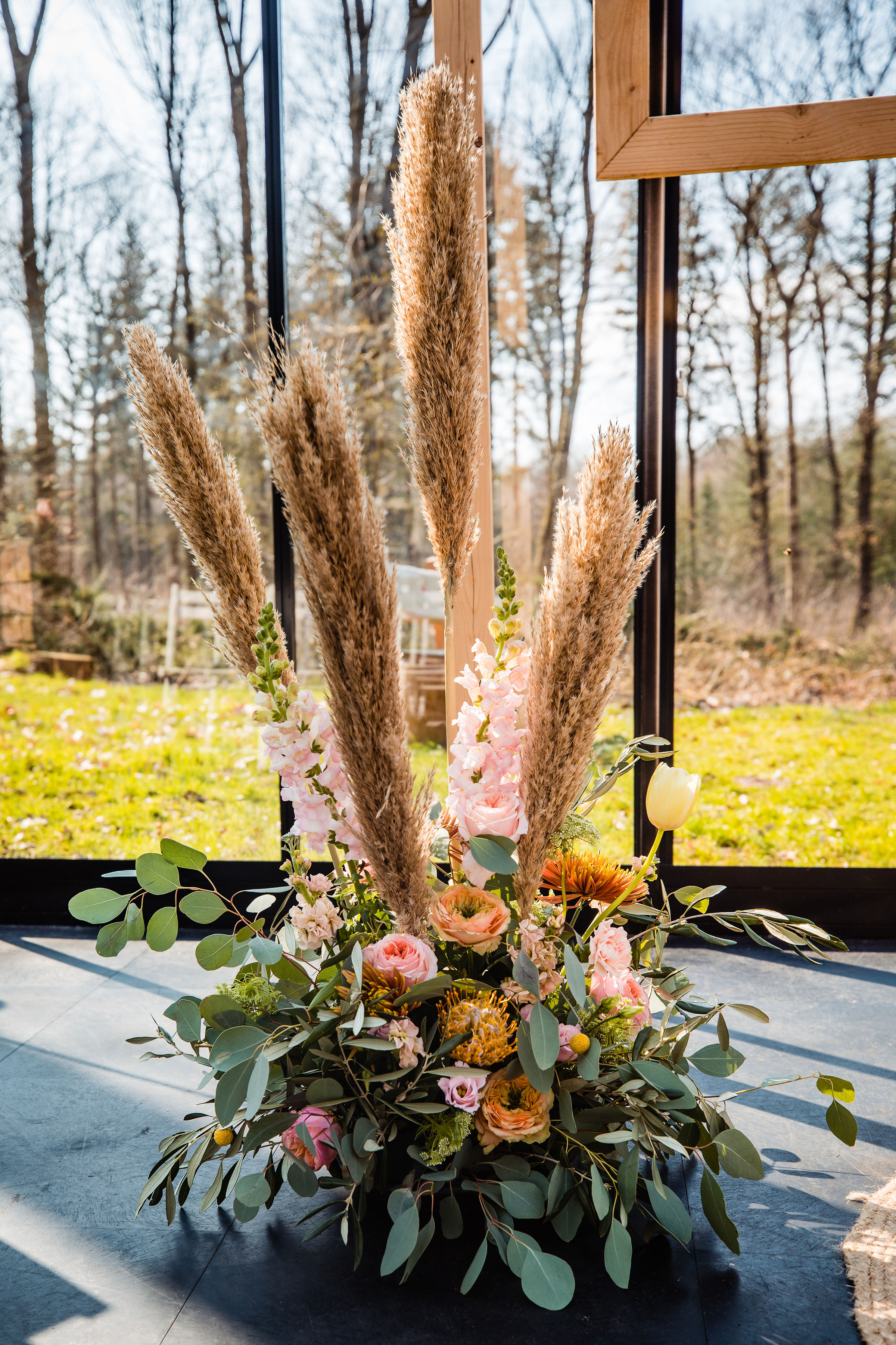 bloemen glazen kas