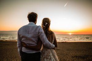 sunset bruiloft