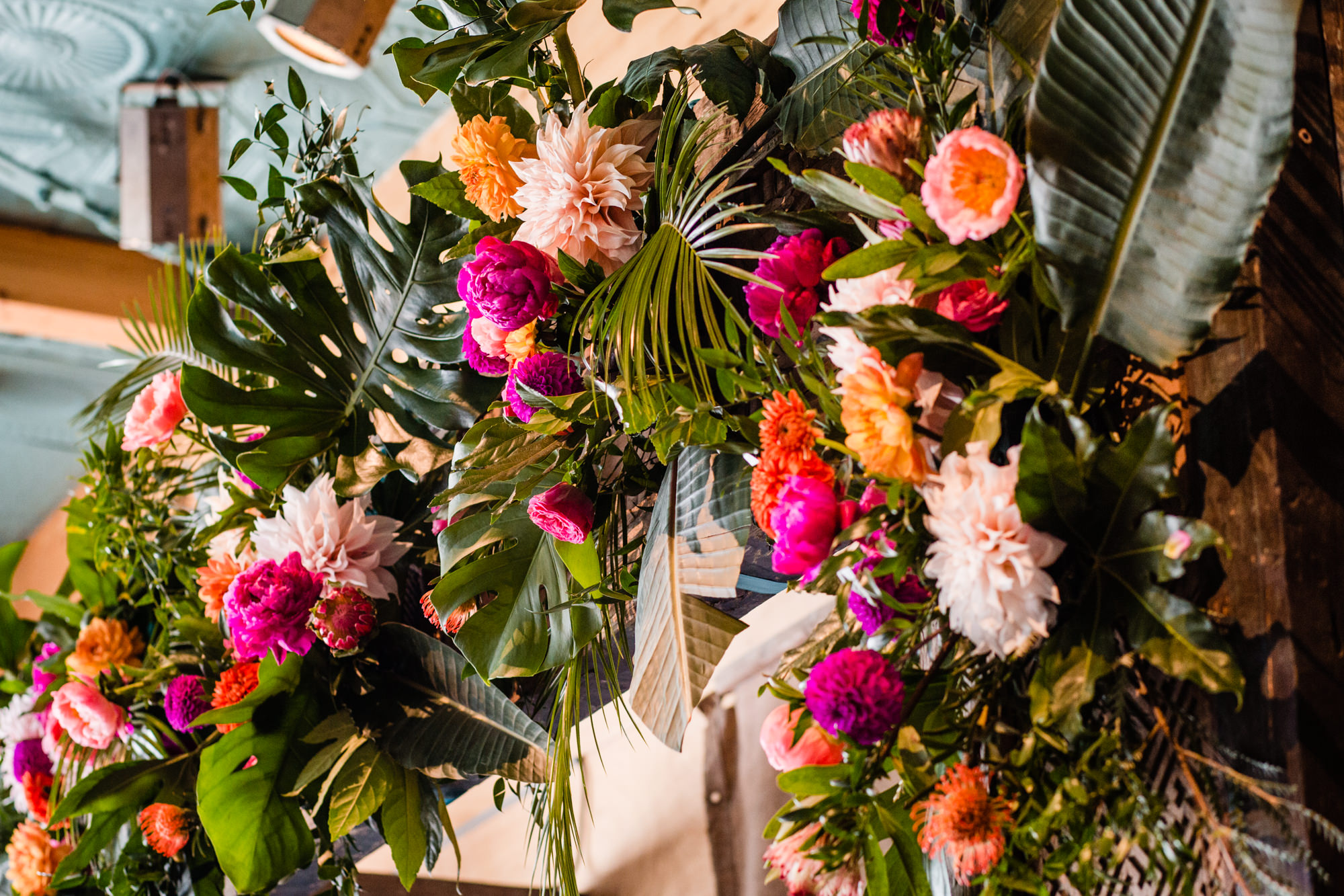 backdrop bloemen bruiloft
