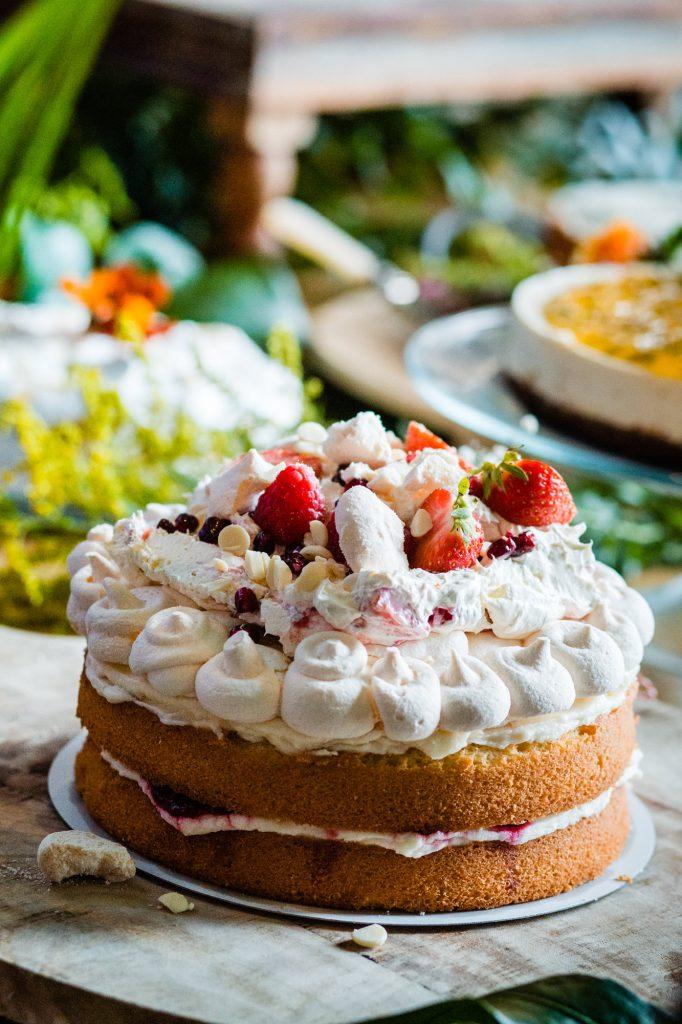 taart bruiloft aardbeien