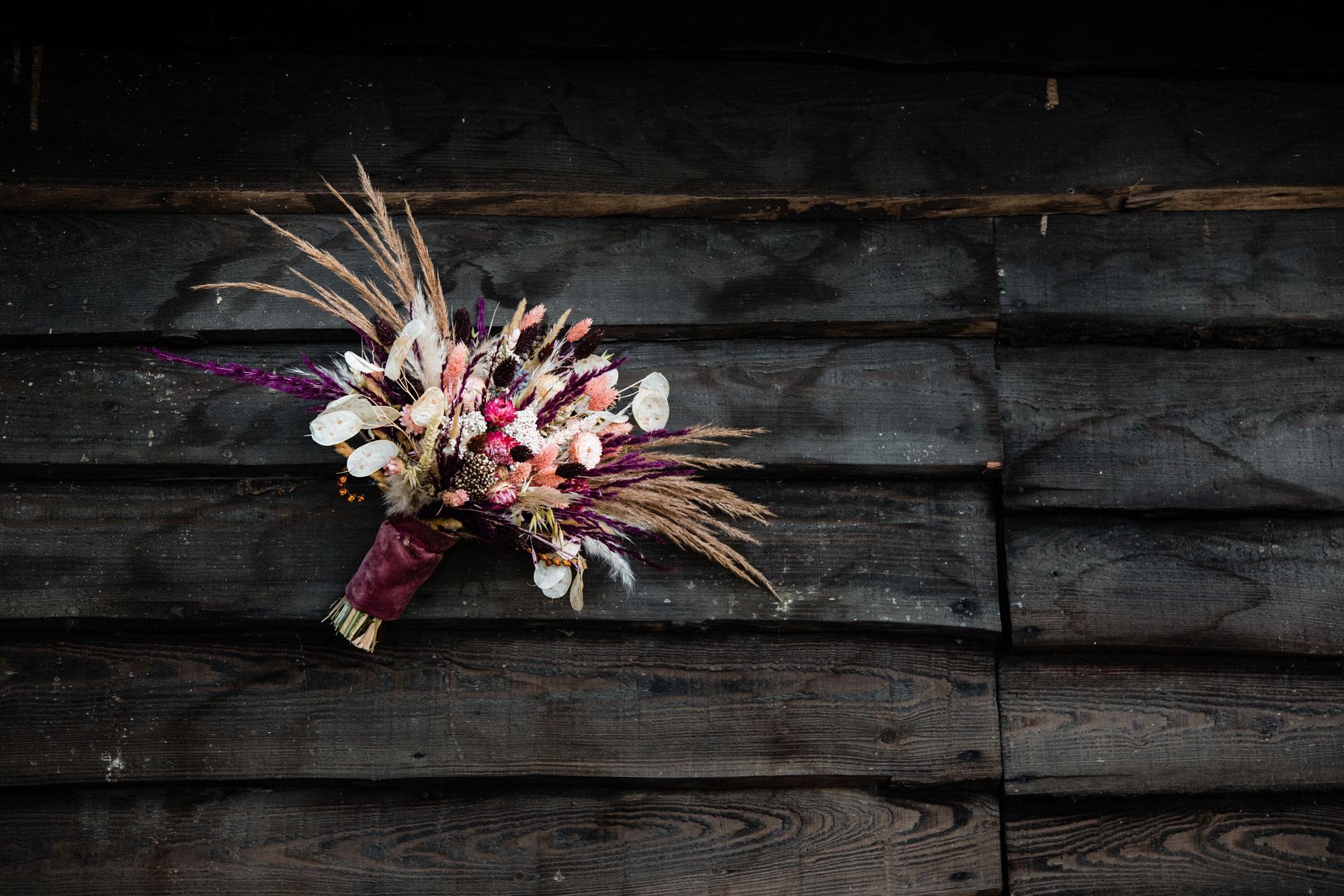 bruidsboeket droogbloemen